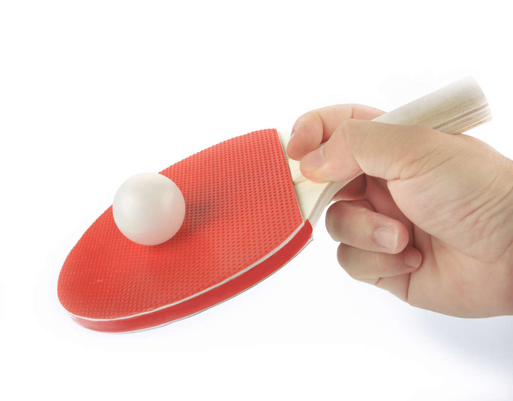 The Chinese penhold grip in ping pong