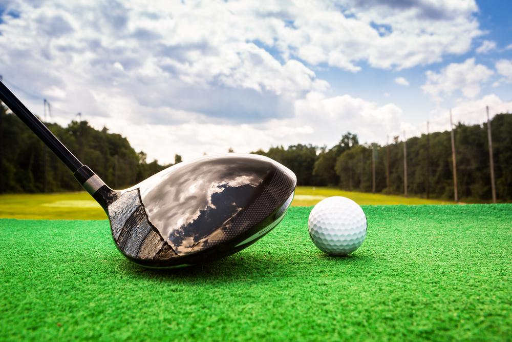 golf wood on driving range