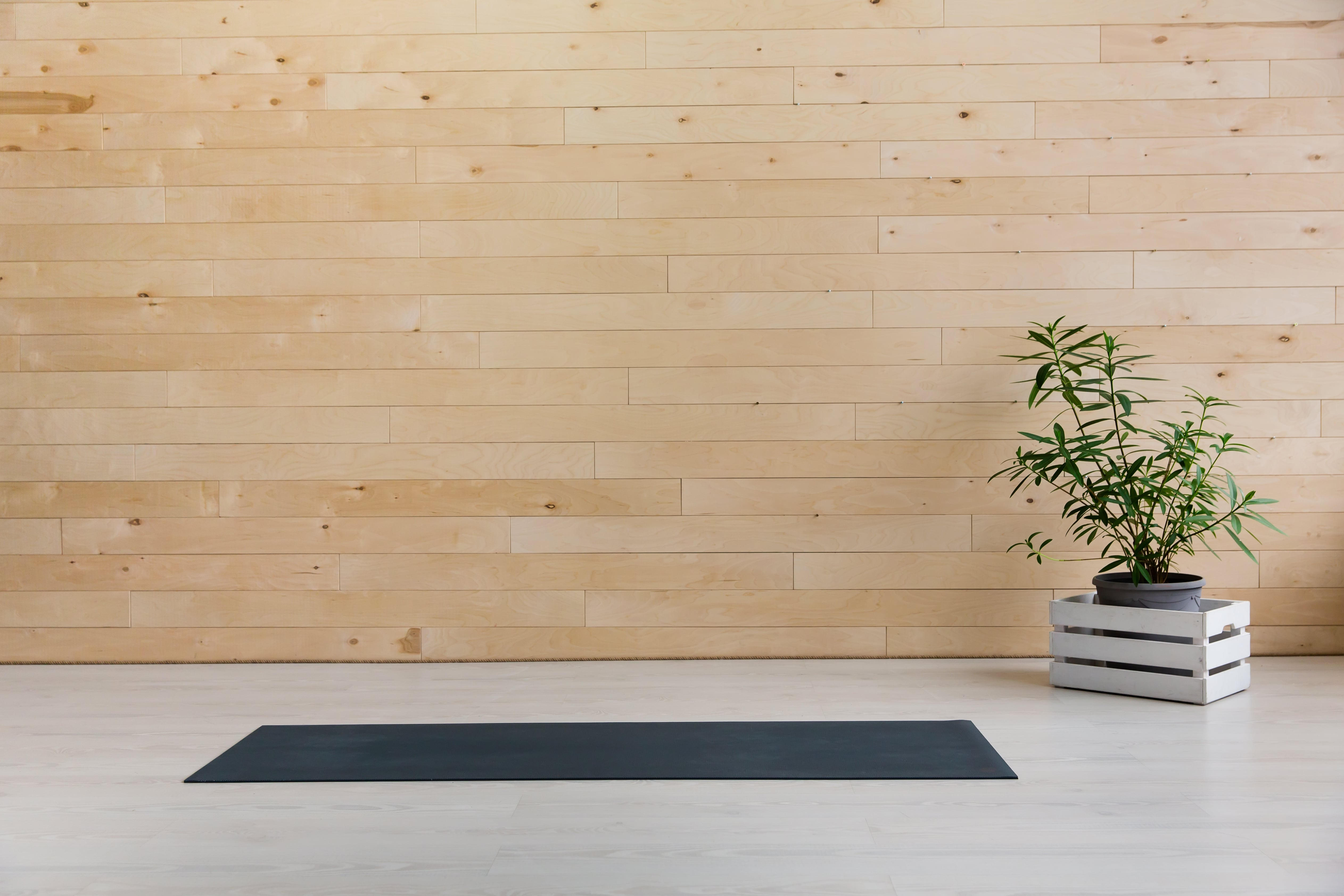 yoga mat open on a smooth surface
