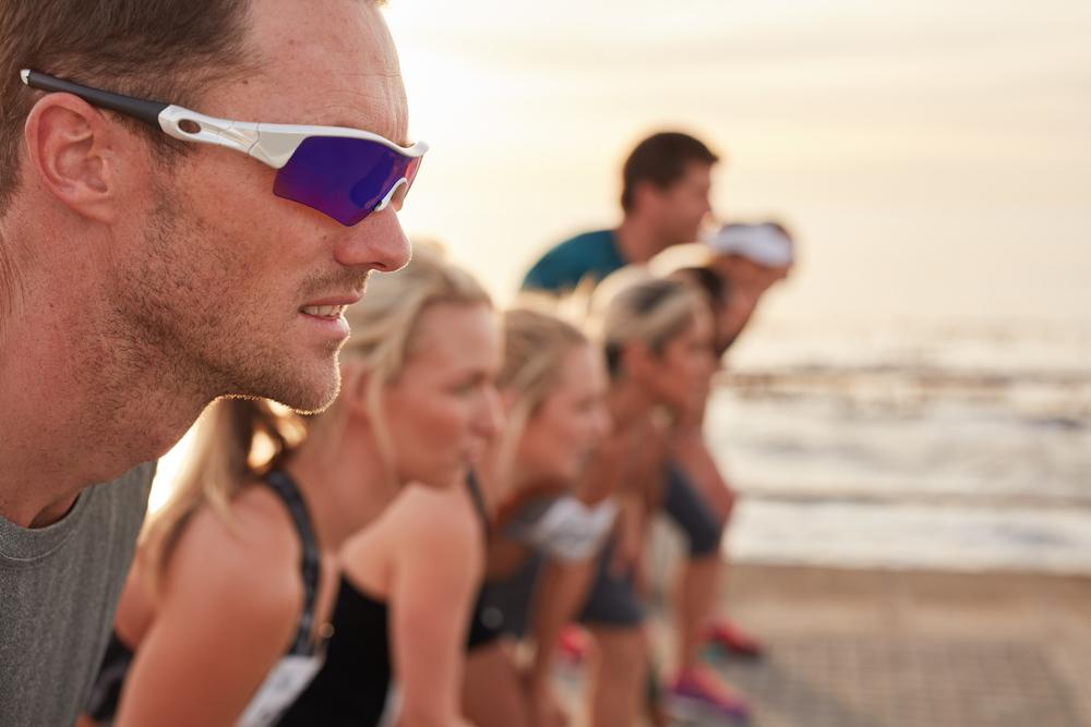 runner wearing sunglasses