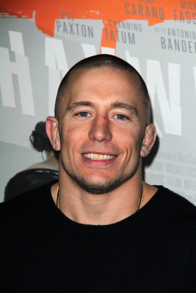 georges st. pierre smiling