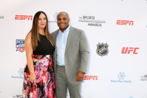 daniel cormier with his wife
